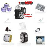 Tyre Wheel Tire Tags Bacodetags Marking Label for storage