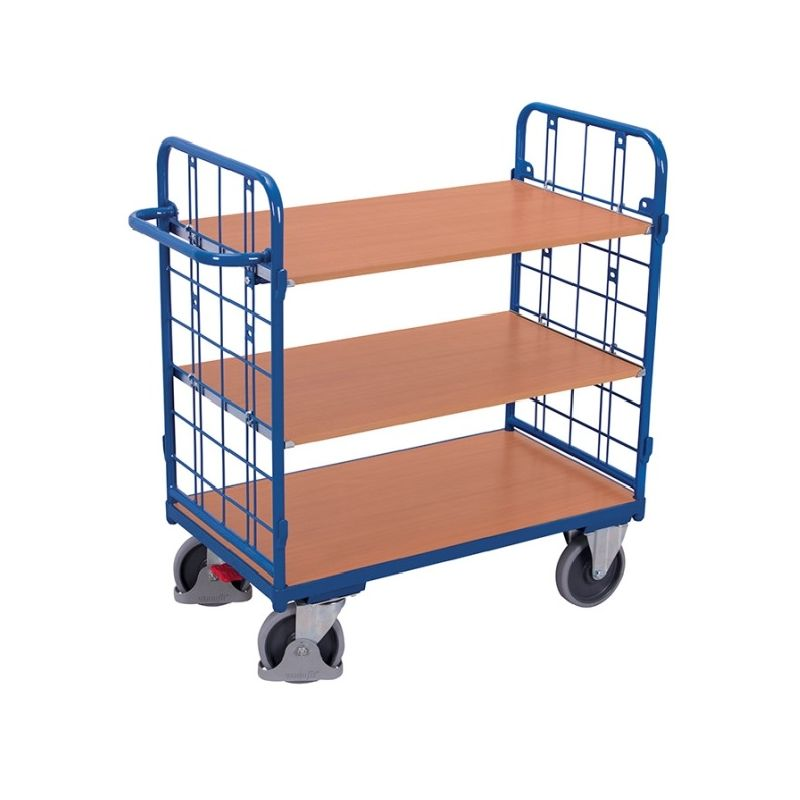 etagenwagen transportregal gitterwand 2 w nde 3 b den. Black Bedroom Furniture Sets. Home Design Ideas