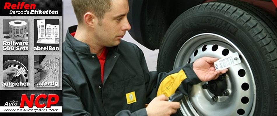 Reifenetiketten Reifen-Anhänger Reifenlager